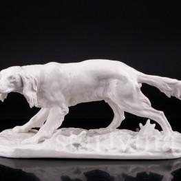 Статуэтка собаки из фарфора Сеттер, Nymphenburg, Германия.