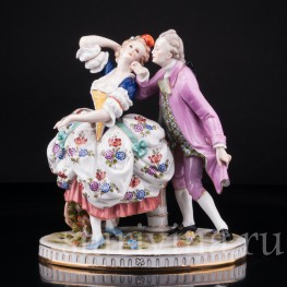 Статуэтка из фарфора Пара в танце, Германия, нач. 20 в.
