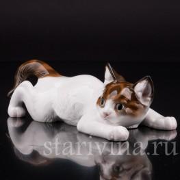 Фигурка из фарфора Ползущий котенок, Rosenthal, Германия, 1955 г.
